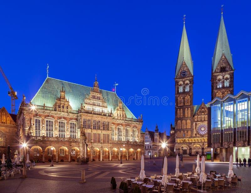 Рыночная площадь Бремен Германия стоковые фотографии rf