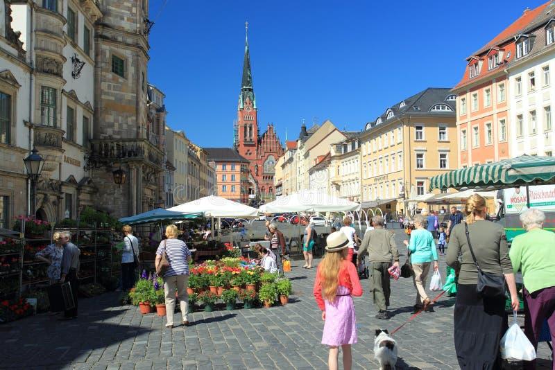 Рыночная площадь в Альтенбурге стоковые изображения