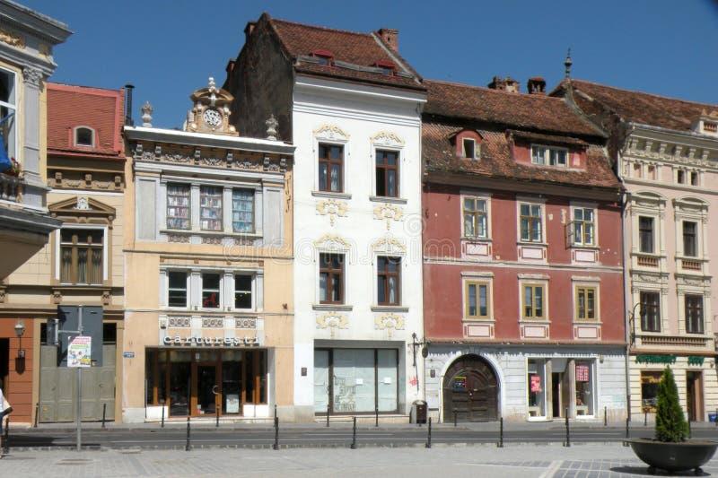Рыночная площадь в Brasov (Kronstadt), Transilvania, Румынии стоковые изображения