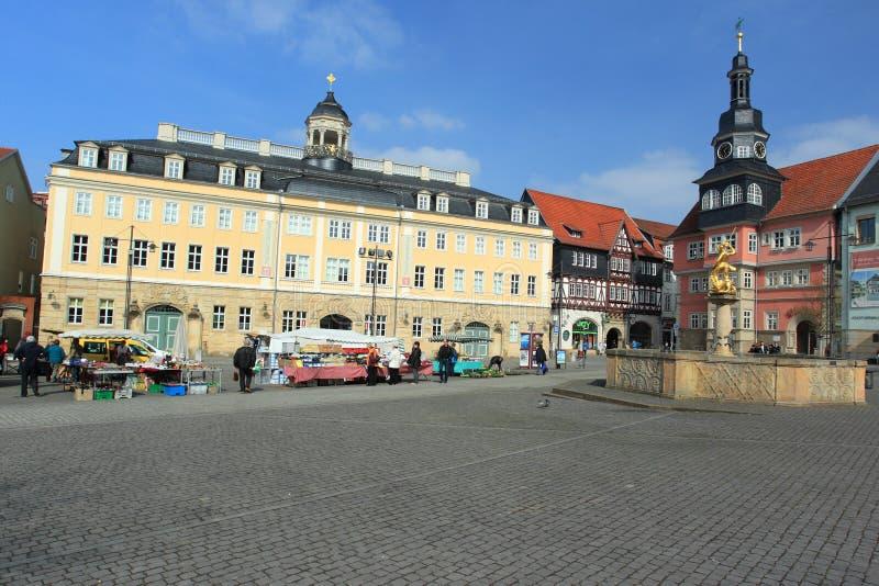 Рыночная площадь в Eisenach стоковые изображения