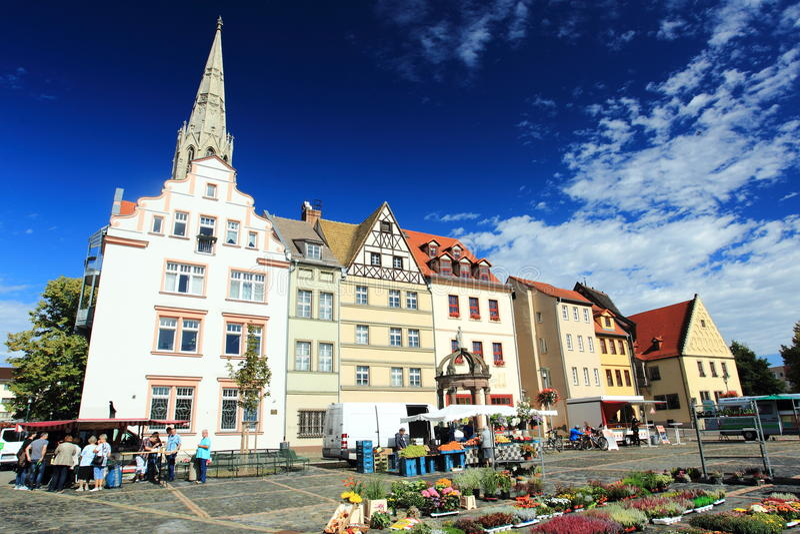 Рыночная площадь в Merseburg стоковая фотография rf