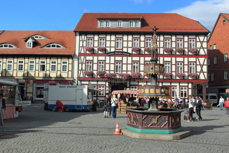 Рыночная площадь в Wernigerode стоковые фотографии rf