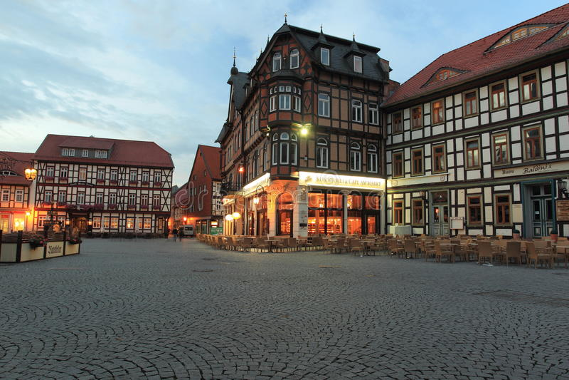Рыночная площадь в Wernigerode стоковые изображения