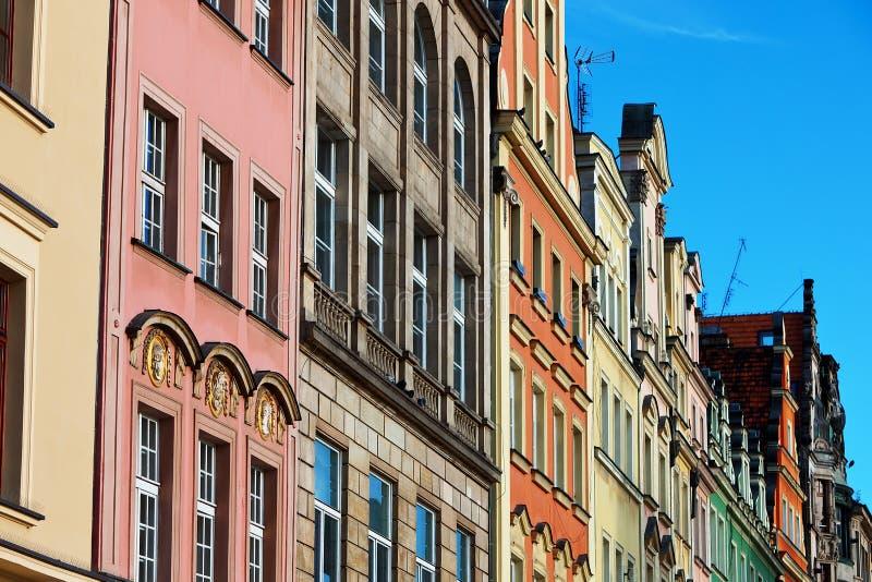 Рыночная площадь в Wroclaw, Польше стоковая фотография