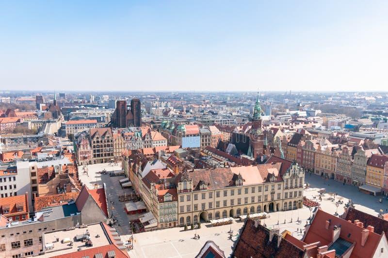Рыночная площадь в Wroclaw стоковые фотографии rf