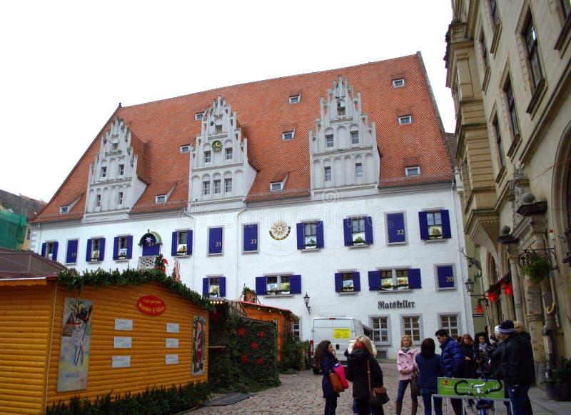 Рыночная площадь Meissen Германия стоковое фото