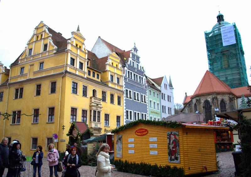 Рыночная площадь Meissen Германия стоковые изображения