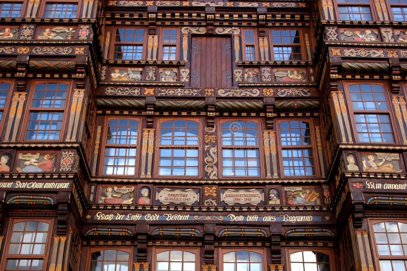 рыночное месте дома hildesheim eedekindhaus стоковые изображения rf