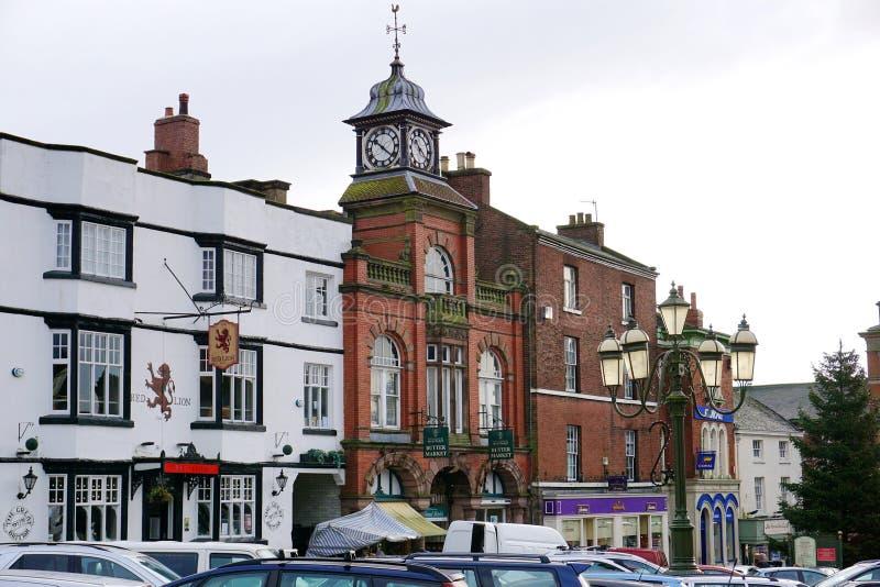 Рыночное месте, лук-порей, Стаффордшир, Англия стоковые изображения rf