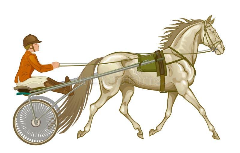 Рысак в проводке иллюстрация вектора