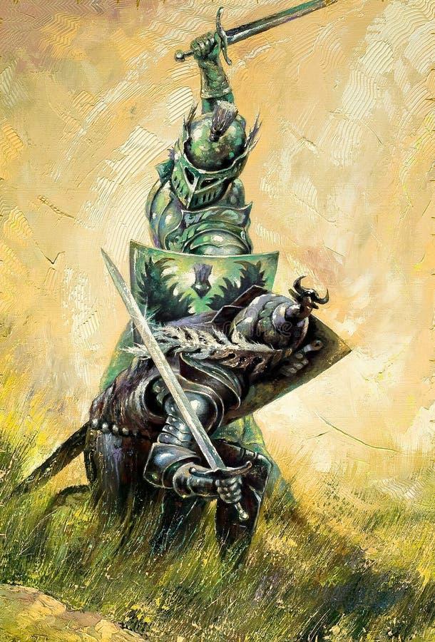 рыцари сражения Стоковое Изображение RF