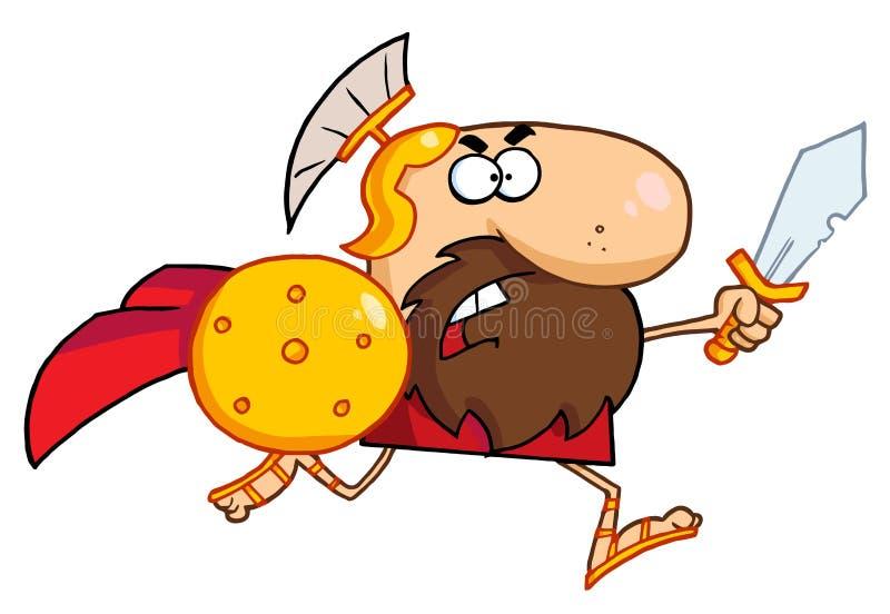 рыцарь гладиатора спартанский иллюстрация штока