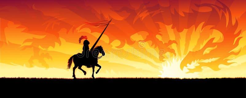 рыцарь дракона бесплатная иллюстрация