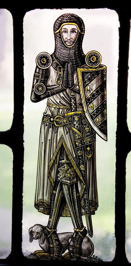 Рыцарь Ейль цветного стекла Bonawit средневековый стоковые фотографии rf