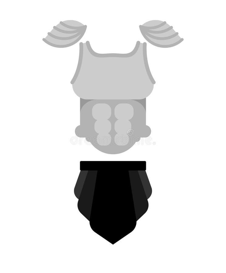 Рыцарь панцыря E E иллюстрация вектора