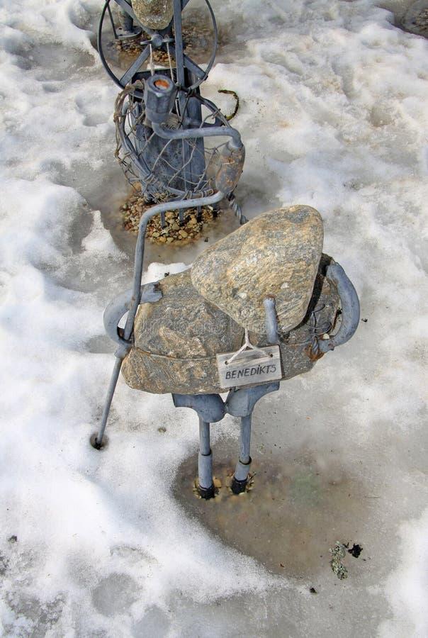Рыцарь скульптурного парада группы рыцарей, SIGULDA, ЛАТВИЯ стоковые фотографии rf