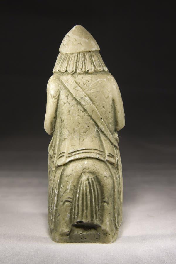 Рыцарь (старая шахматная фигура) стоковое фото