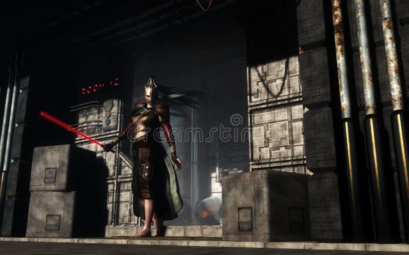 Рыцарь темноты иллюстрация штока