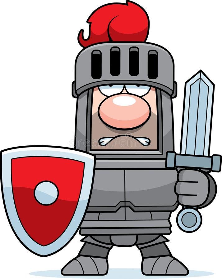 Рыцарь шаржа в панцыре бесплатная иллюстрация
