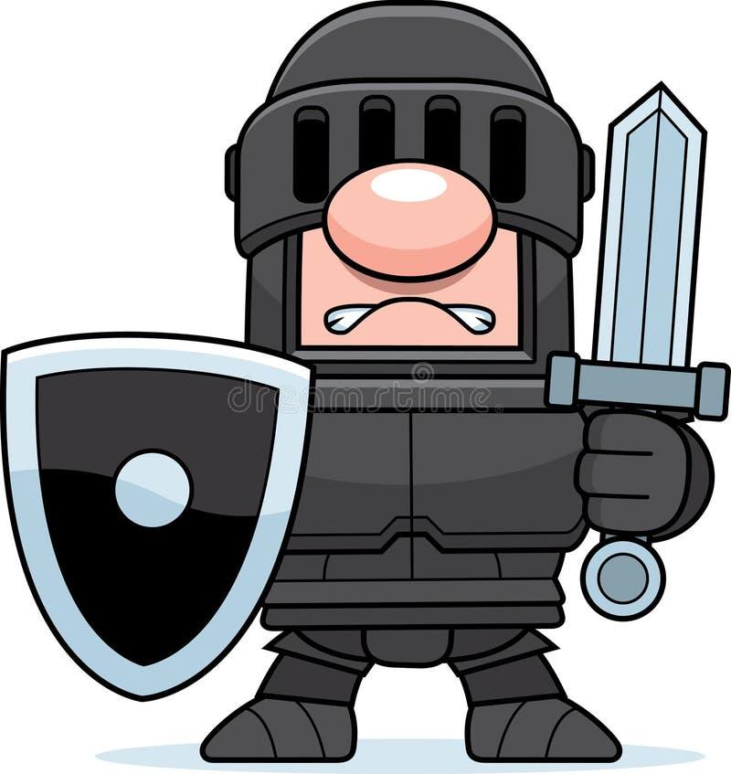 Рыцарь шаржа черный иллюстрация вектора