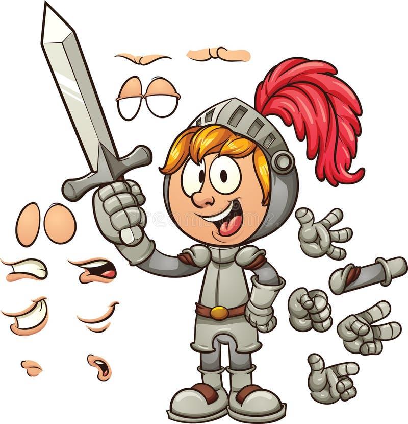 Рыцарь шаржа иллюстрация штока