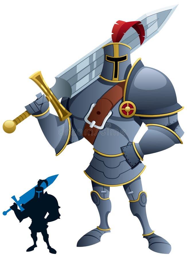 Рыцарь иллюстрация вектора