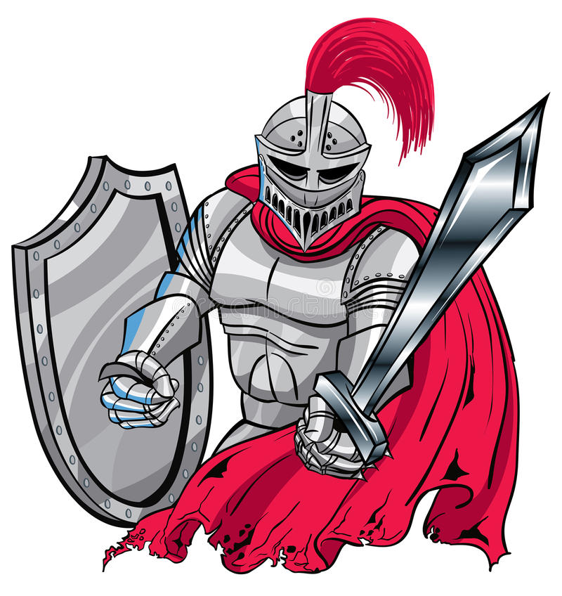 Рыцарь иллюстрация штока