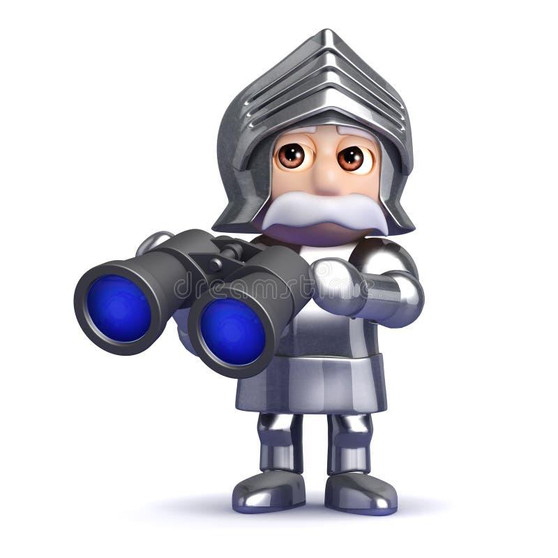 Download рыцарь 3d с биноклями иллюстрация штока. иллюстрации насчитывающей поиск - 41662080