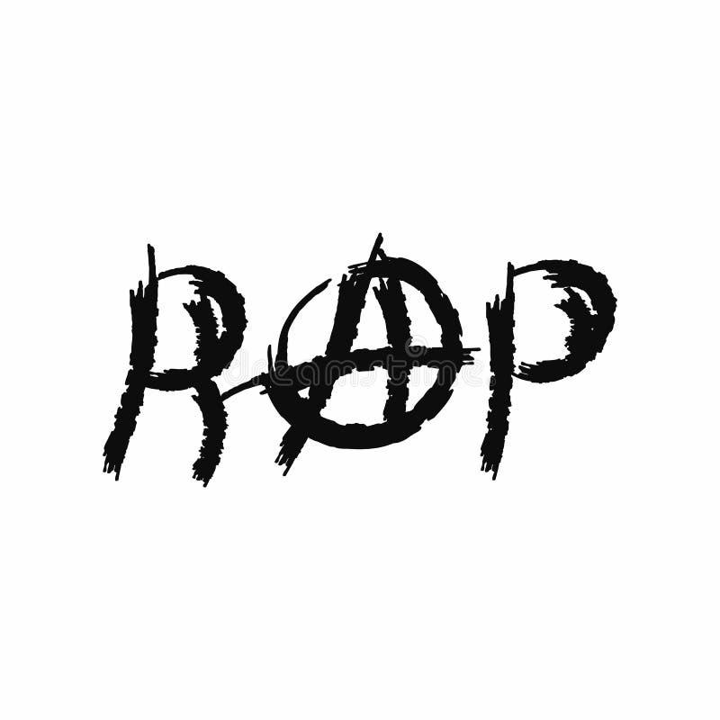 Рэп надписи со знаком анархии Тип Grunge Иллюстрация вектора нарисованная щеткой watercolour Эскиз, акварель, краска бесплатная иллюстрация