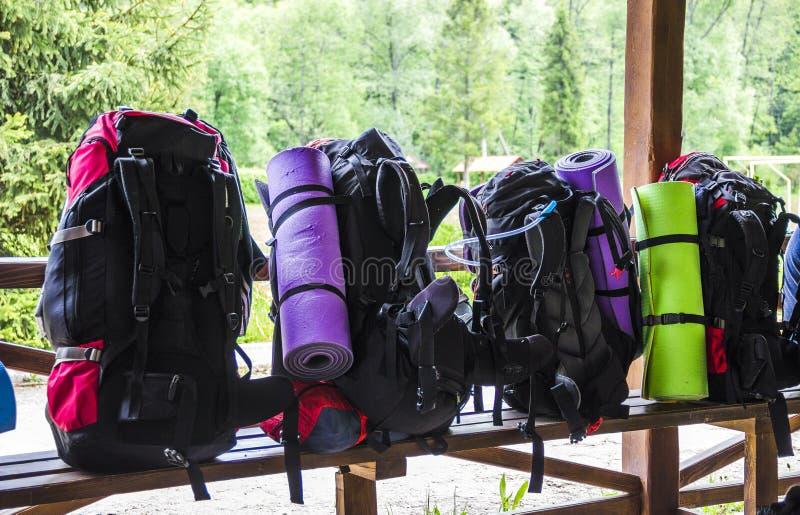 Рюкзаки туристов стоковая фотография rf