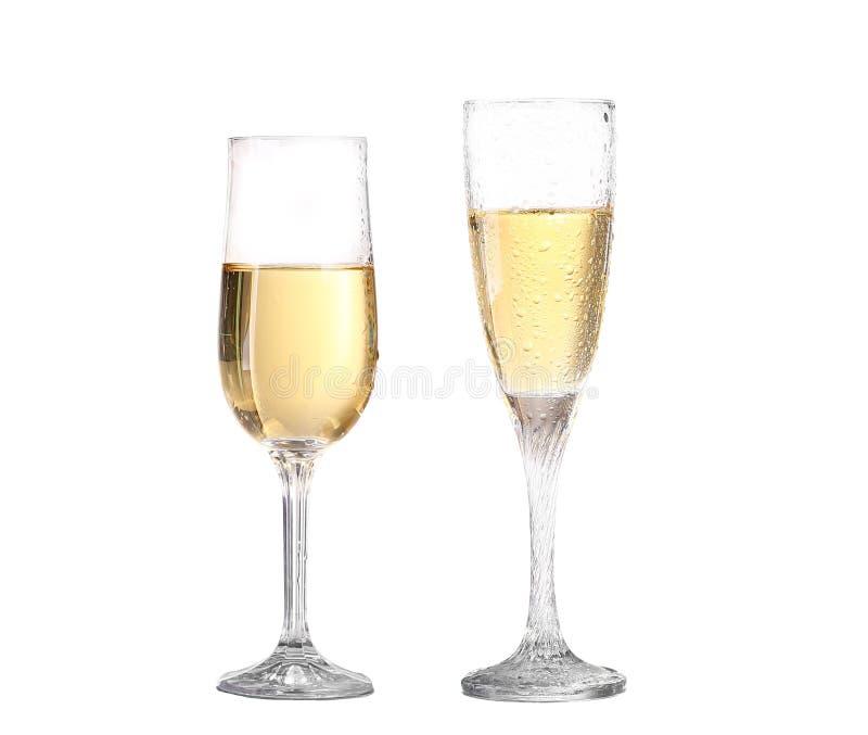 Рюмка коллажа с белым вином Концепция и идея стоковая фотография