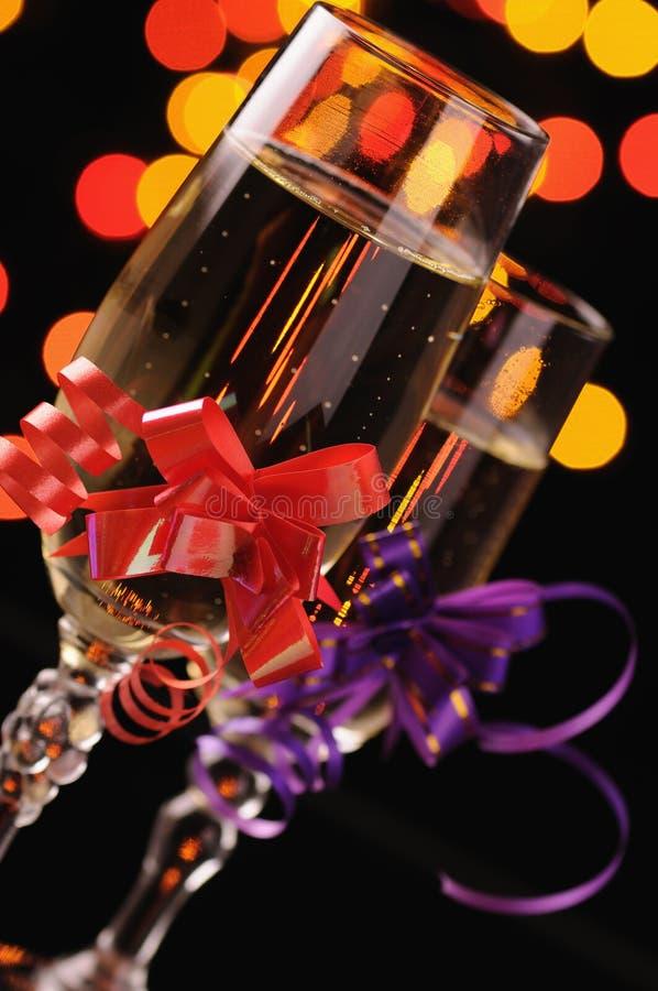 рюмки шампанского стоковая фотография