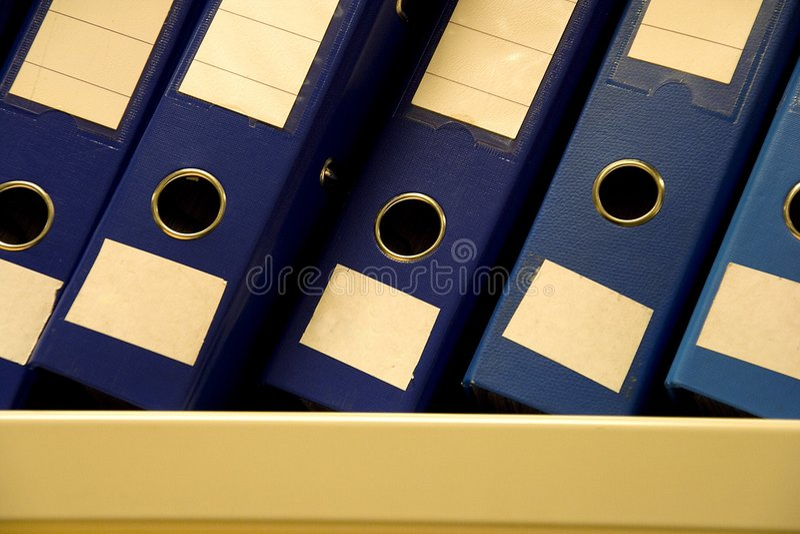рядок архивов стоковое фото
