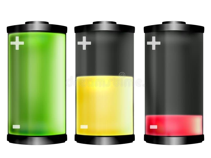 Рядок батареи на белизне бесплатная иллюстрация
