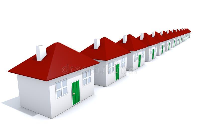 рядок домов иллюстрация вектора