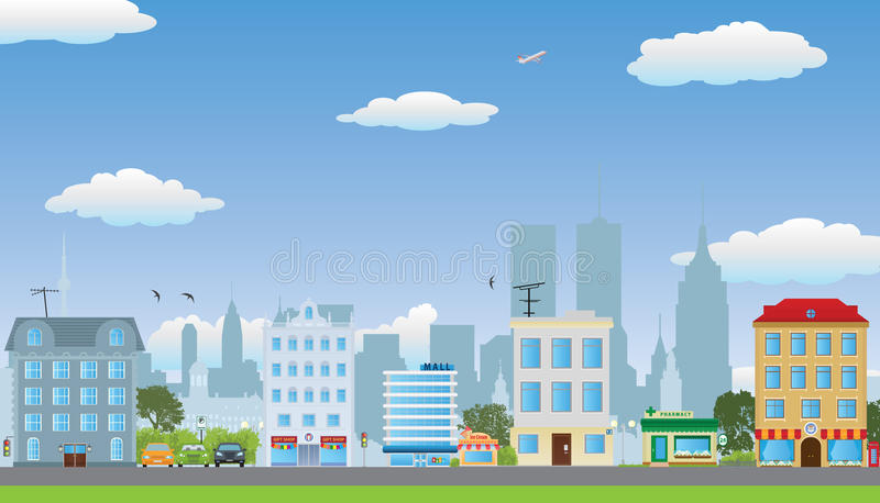 Рядок домов. иллюстрация вектора