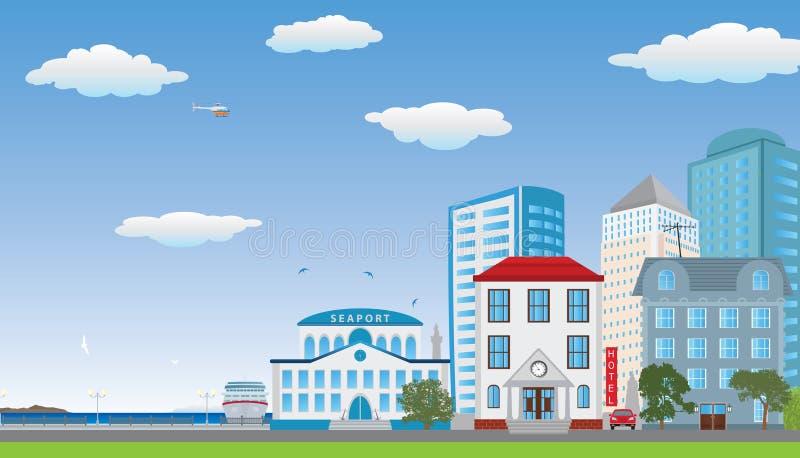 Рядок домов. бесплатная иллюстрация