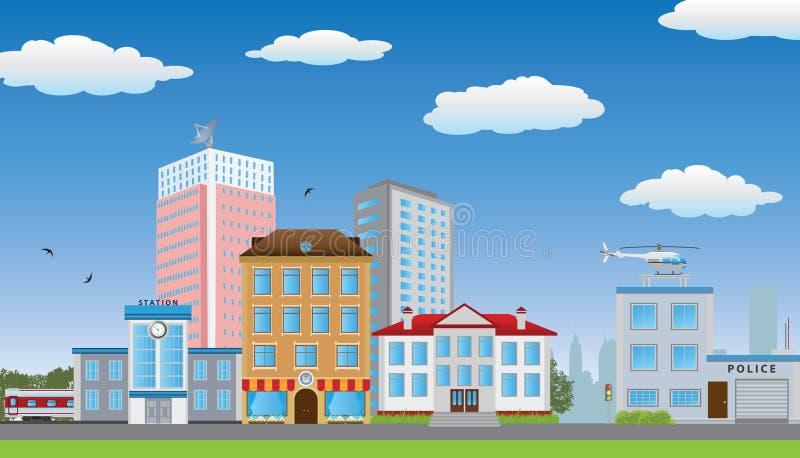 Рядок домов. иллюстрация штока