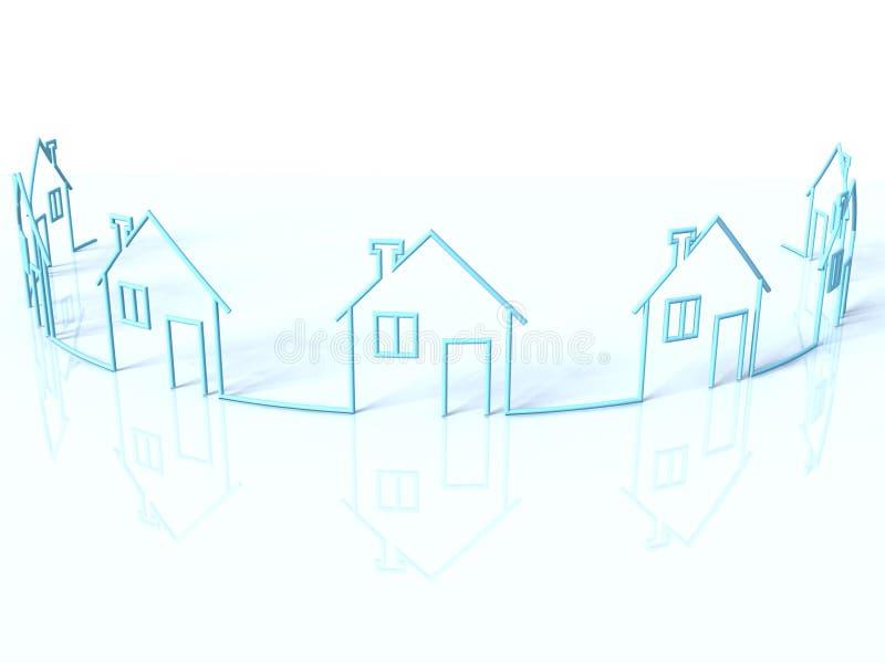 рядок домов бесплатная иллюстрация