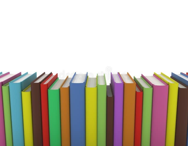 рядок книг иллюстрация вектора