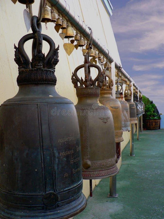 рядок колоколов стоковые фото