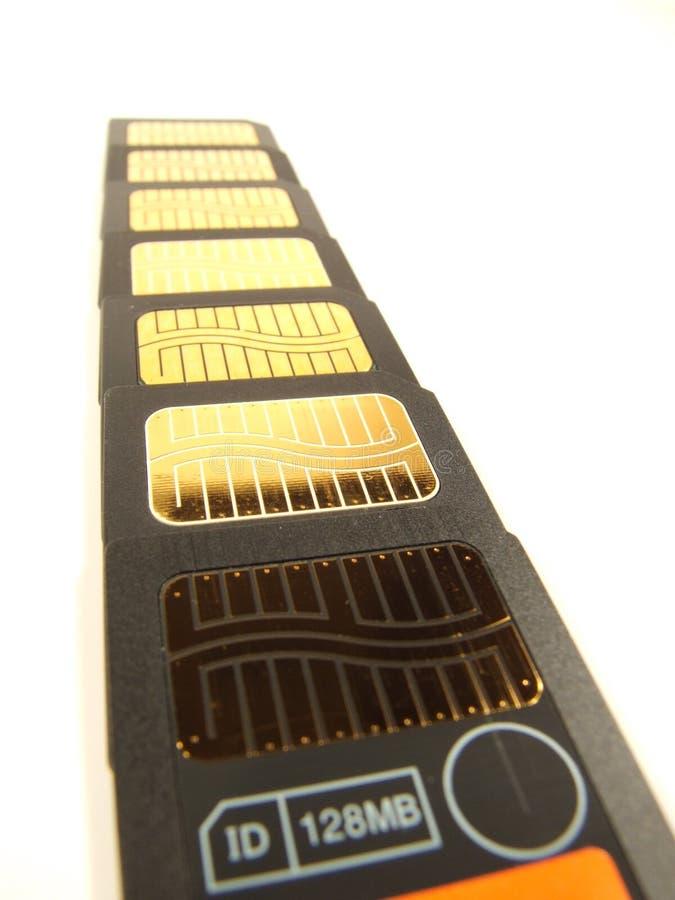 рядок памяти карточки стоковые изображения rf