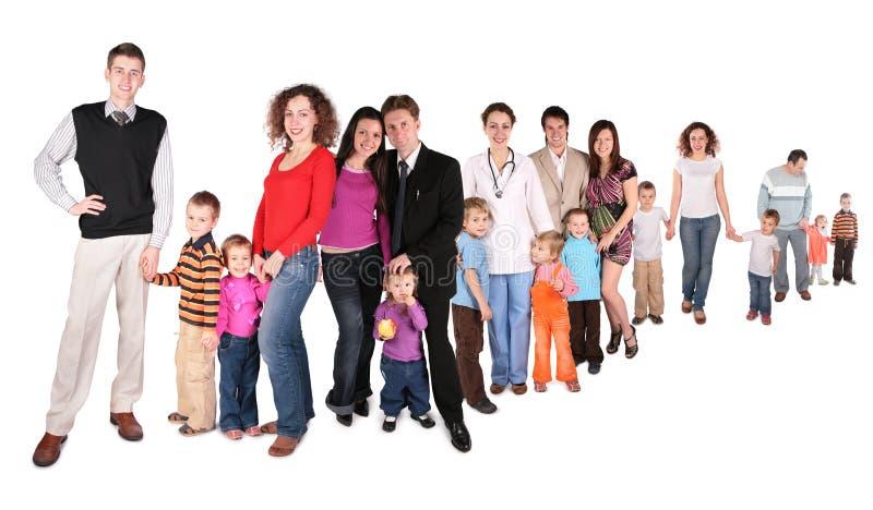 рядок семьи коллажа стоковое фото rf