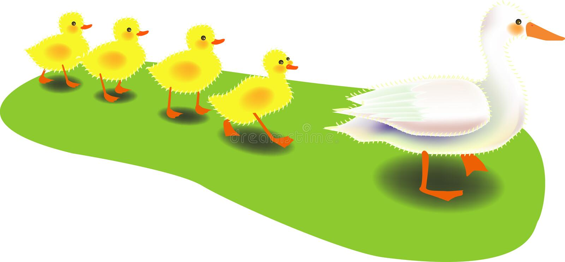 рядок утки иллюстрация штока