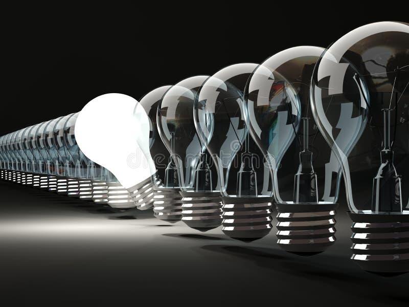 Рядок электрических лампочек иллюстрация вектора