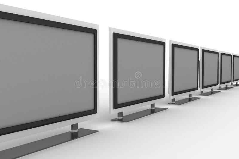 рядок tvs плазмы бесплатная иллюстрация