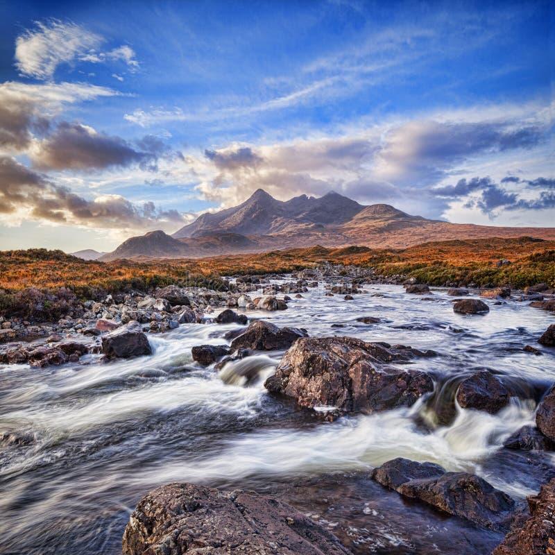 Ряд Skye Шотландия Великобритания Cullin стоковое изображение rf
