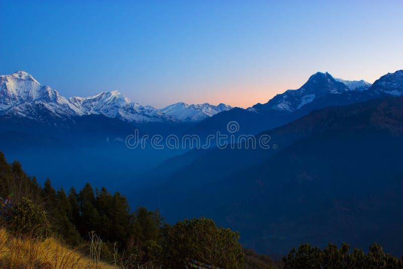Ряд Annapurna стоковое изображение rf