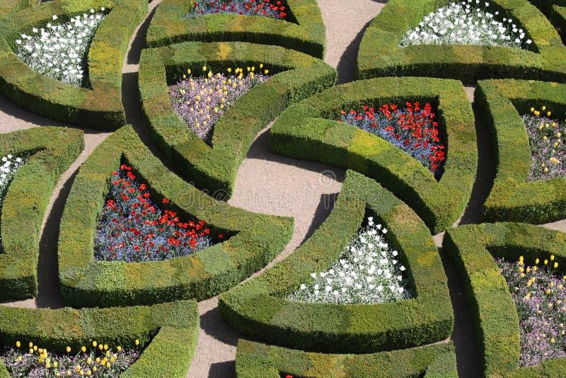 садовничает долина loire villandy стоковое фото