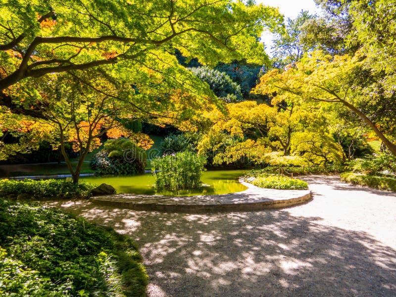 Сады Виллы Мелзи, Белладжио, озеро Комо, Италия стоковые изображения rf
